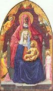 MASOLINO da Panicale Madonna and Child, Saint Anne and the Angels oil painting picture wholesale